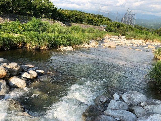 田舎の川遊び 癒し