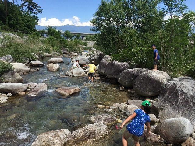 田舎の川遊び 川探検