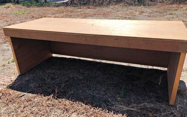 折りたたみ式簡単テーブルの作り方 うしろ