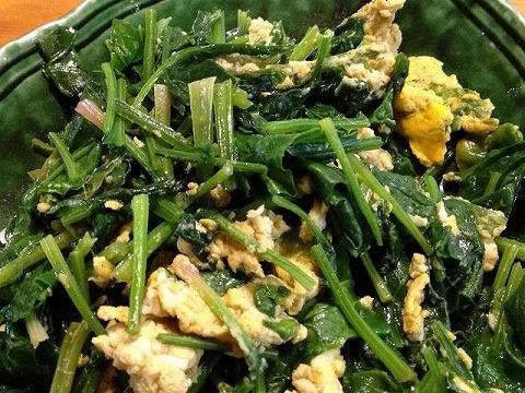 ほうれん草 家庭菜園 ホウレン草と卵の和え物
