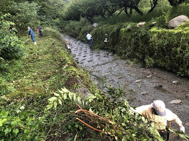 田舎 河川清掃